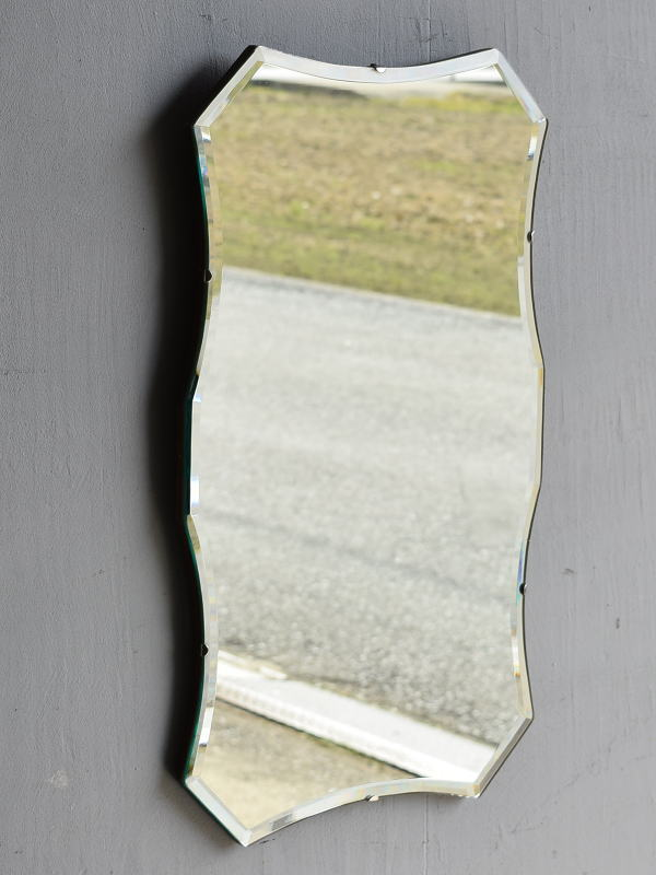 イギリス アンティーク  壁掛け ミラー 鏡 7866