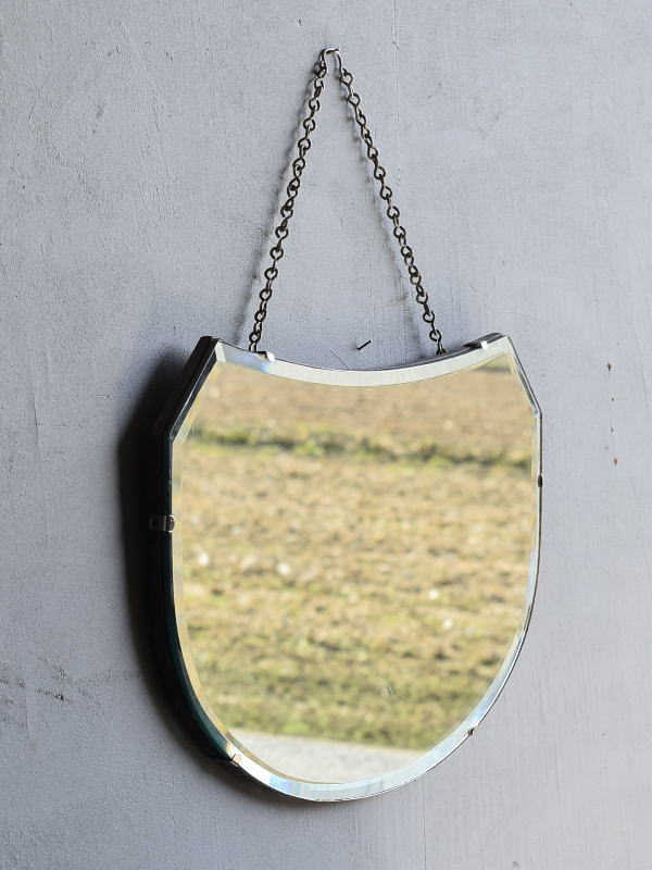 イギリス アンティーク  壁掛け ミラー 鏡 7867
