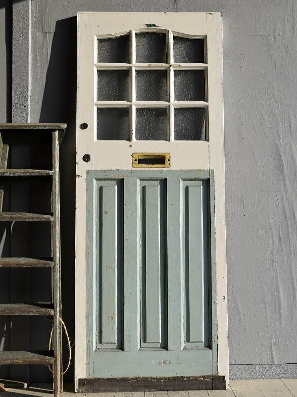 イギリス アンティーク ガラス ドア 扉 ディスプレイ 建具 7872