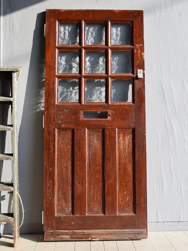 イギリス アンティーク ガラス ドア 扉 ディスプレイ 建具 7874