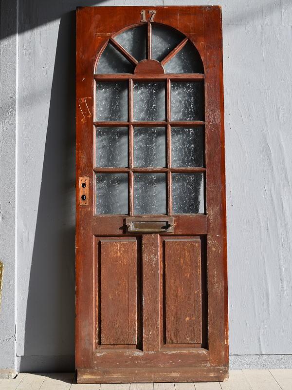 イギリス アンティーク ガラス ドア 扉 ディスプレイ 建具 7878