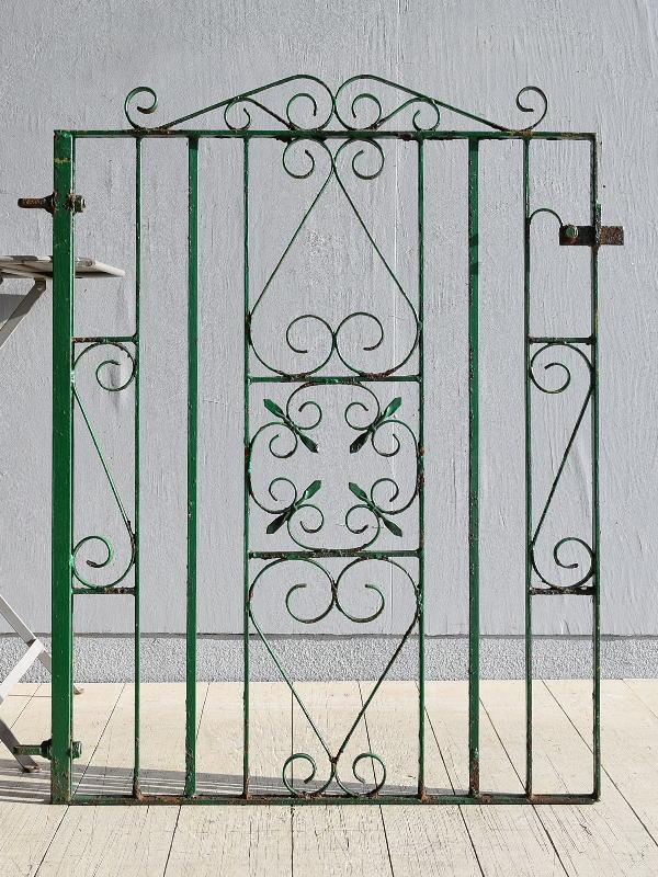 イギリス アンティーク アイアンフェンス ゲート柵 ガーデニング 7919