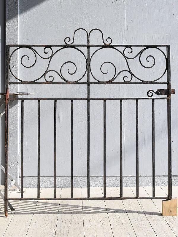 イギリス アンティーク アイアンフェンス ゲート柵 ガーデニング 9567