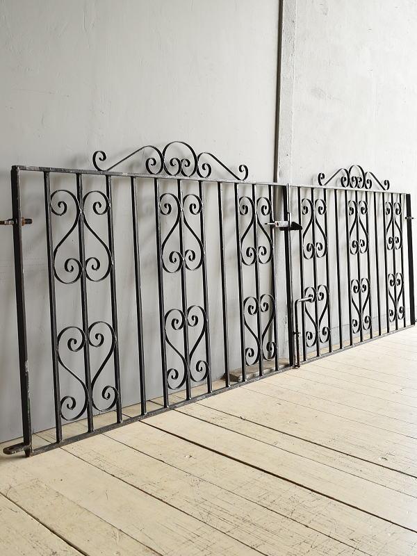 イギリス アンティーク アイアンフェンス ゲート柵 7930