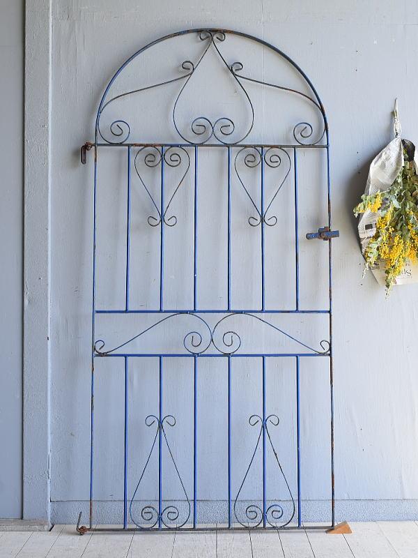 イギリスアンティーク アイアンフェンス ゲート柵 ガーデニング 7944
