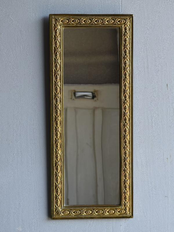 イギリス アンティーク  壁掛け ミラー 鏡  7947