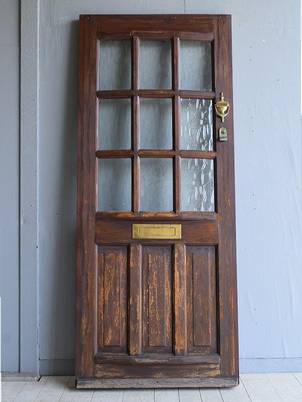 イギリス アンティーク ガラス ドア 扉 ディスプレイ 建具 7958
