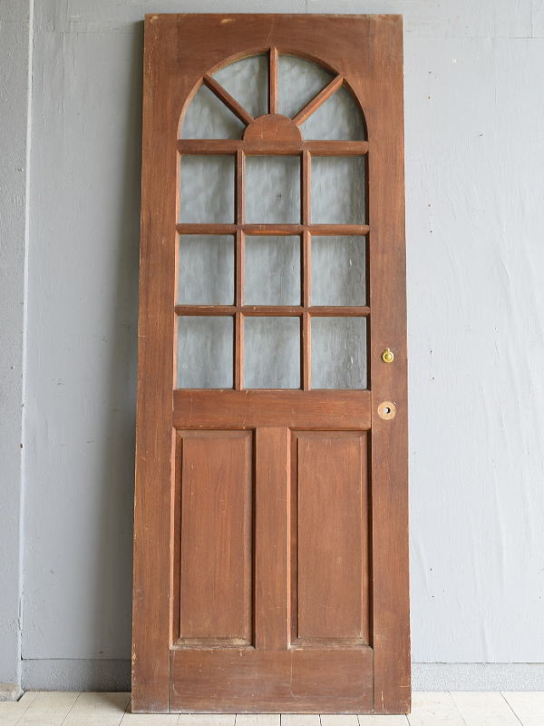 イギリス アンティーク ガラス ドア 扉 ディスプレイ 建具 7961