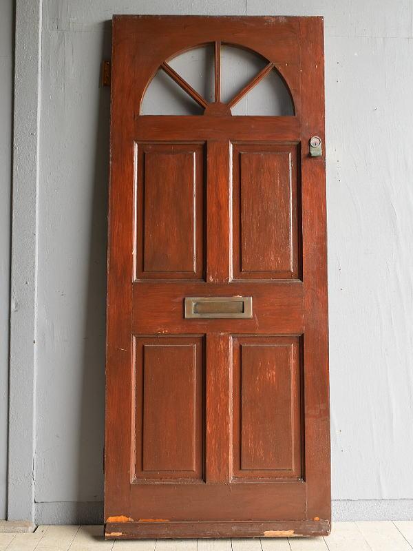 イギリス アンティーク ガラス ドア 扉 ディスプレイ 建具 7962