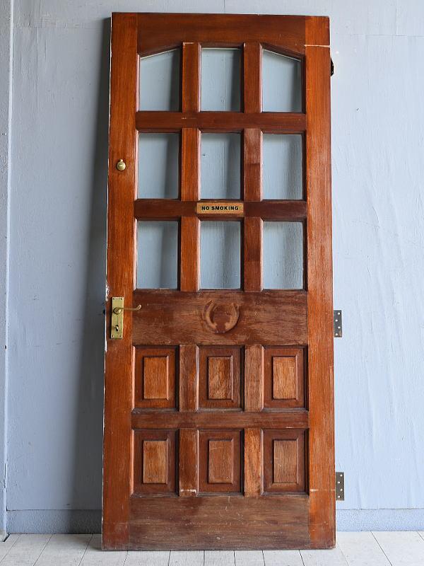 イギリス アンティーク ガラス ドア 扉 建具 7998