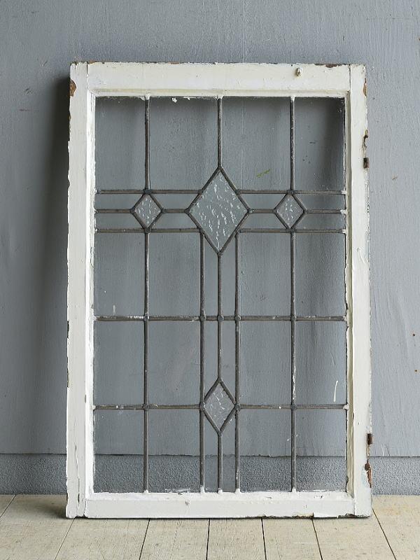 イギリス アンティーク 窓 無色透明 8010