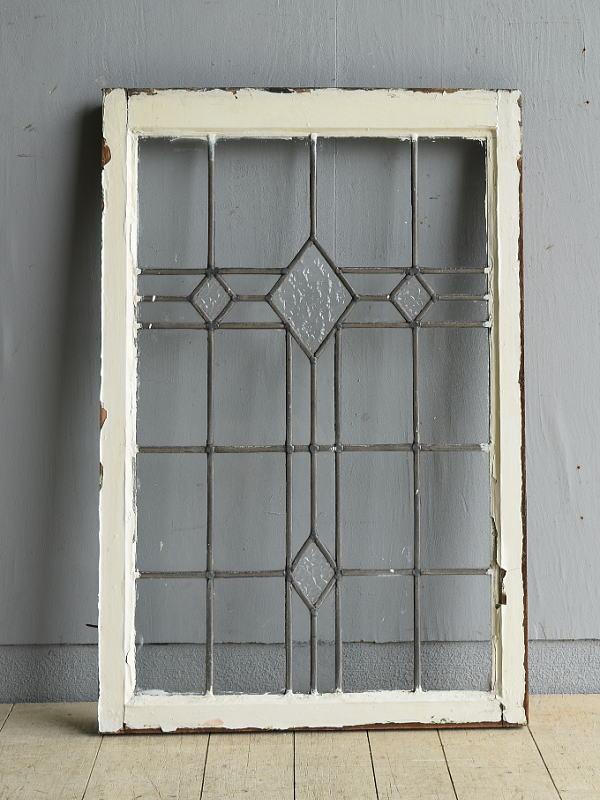 イギリス アンティーク 窓 無色透明 8011
