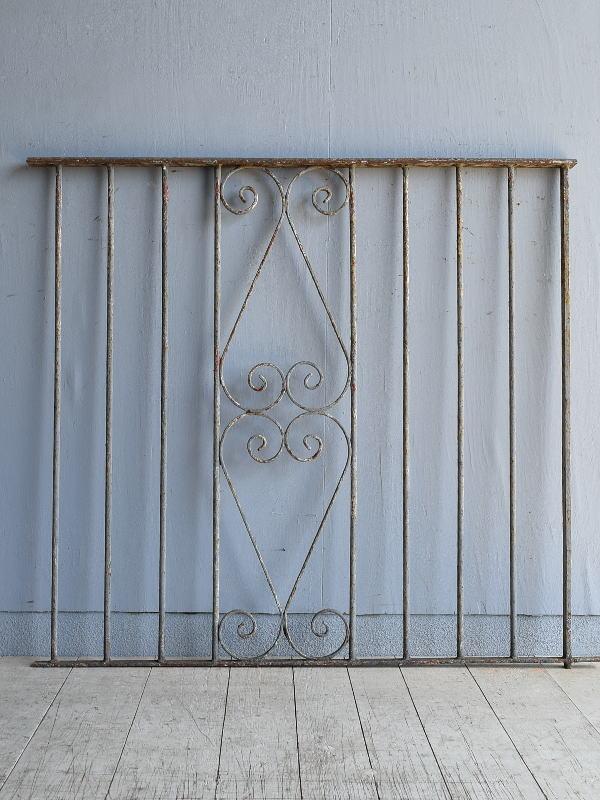 イギリス アンティーク アイアンフェンス ゲート柵 8094