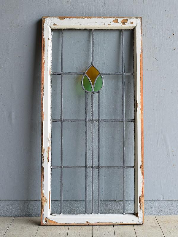 イギリス アンティーク ステンドグラス 窓 8099