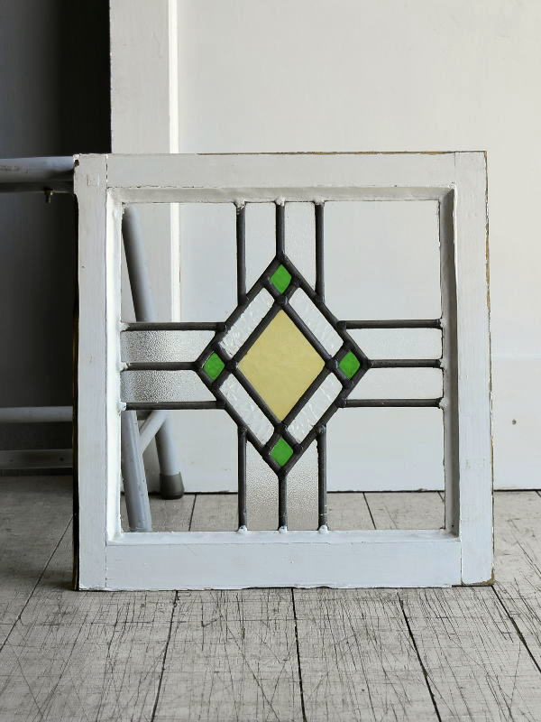 イギリス アンティーク ステンドグラス 窓 8110
