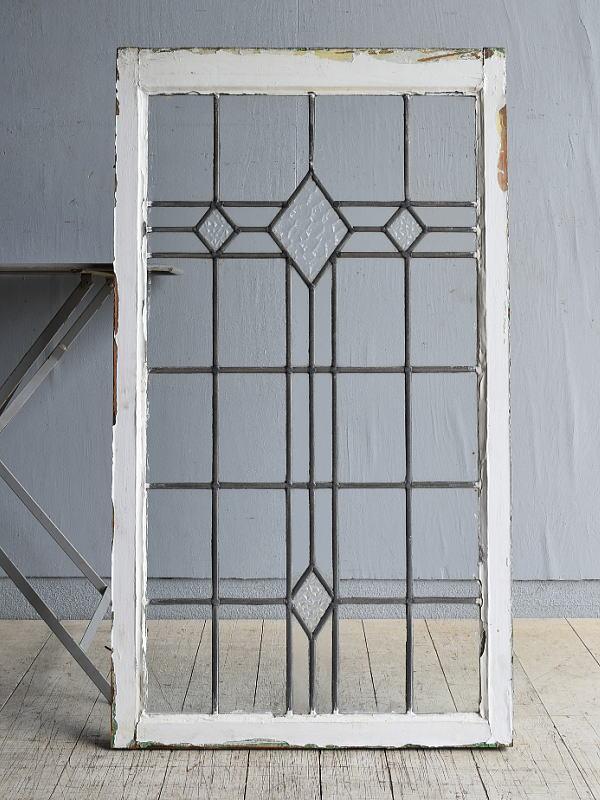 イギリス アンティーク 窓 無色透明 8146