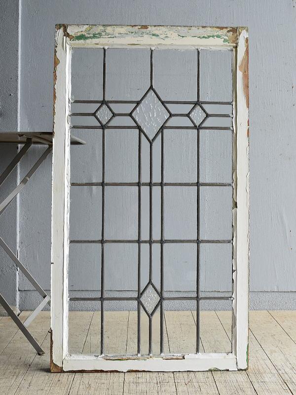 イギリス アンティーク 窓 無色透明 8149