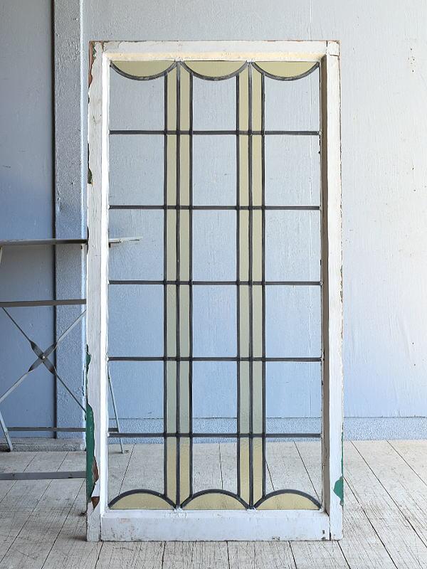 イギリス アンティーク 窓 無色透明 8150