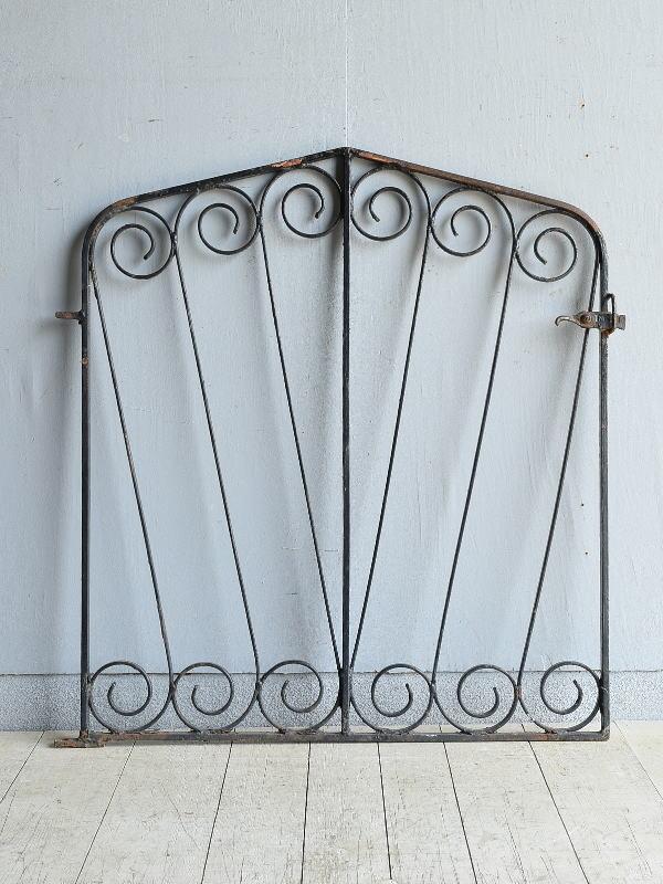 イギリス アンティーク アイアンフェンス ゲート柵 8171
