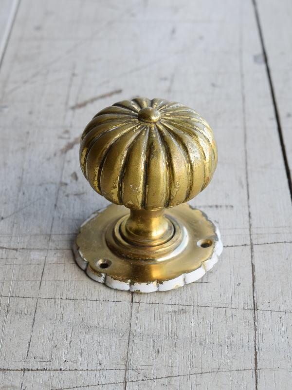イギリス アンティーク 真鍮 ドアノブ 建具金物 握り玉 8208