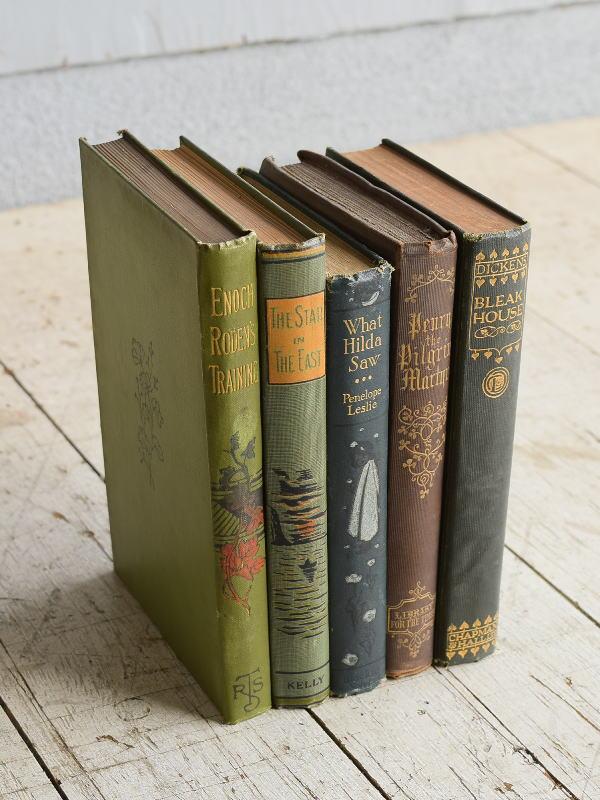 イギリス アンティーク ブック 本 洋書 5冊セット ディスプレイ 8269