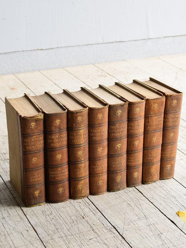 イギリス アンティーク ブック 本 洋書 8冊セット ディスプレイ 8296