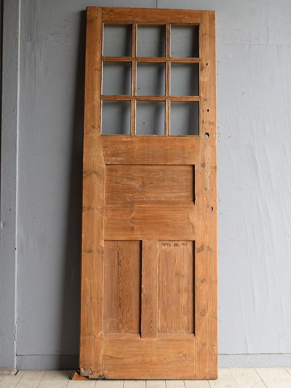 イギリス アンティーク ガラス入り木製ドア 扉 建具 8301