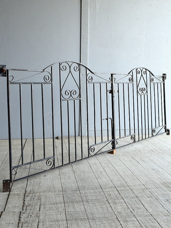 イギリス アンティーク アイアンフェンス ゲート柵 8315