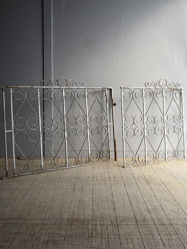 イギリス アンティーク アイアンフェンス ゲート柵 8323