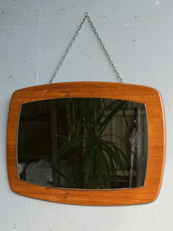 イギリス アンティーク  木製枠 ミラー 鏡 8325