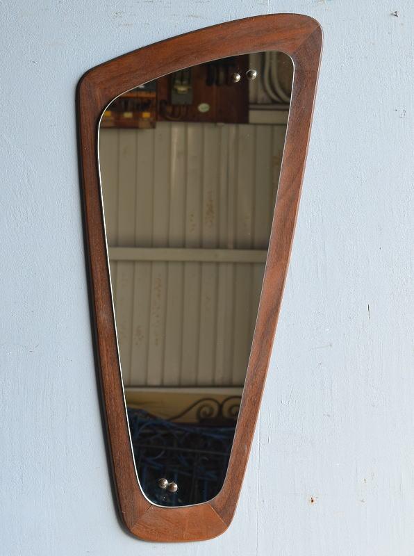 イギリス アンティーク  木製枠 ミラー 鏡 8327