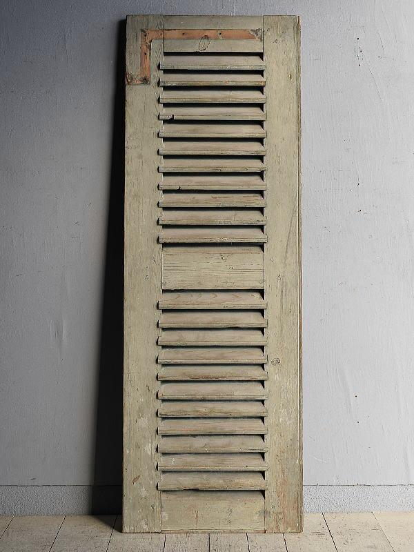ルーマニア製 アンティーク 木製ルーバー雨戸 ディスプレイ 建具 8364