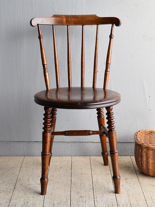 イギリス アンティーク家具 キッチンチェア 椅子 8366