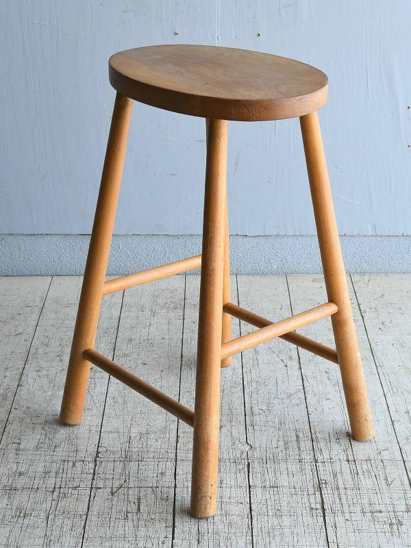 イギリス アンティーク 木製スツール 8387