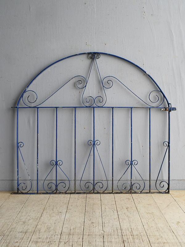 イギリス アンティーク アイアンフェンス ゲート柵 8388