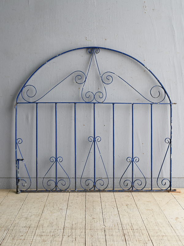 イギリス アンティーク アイアンフェンス ゲート柵 8389