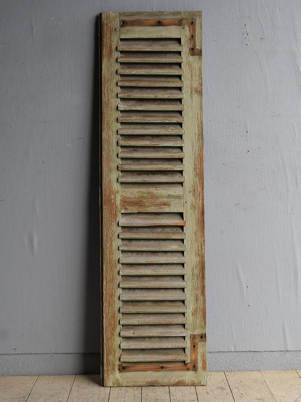 ルーマニア製 アンティーク 木製ルーバー雨戸 ディスプレイ 建具 8395