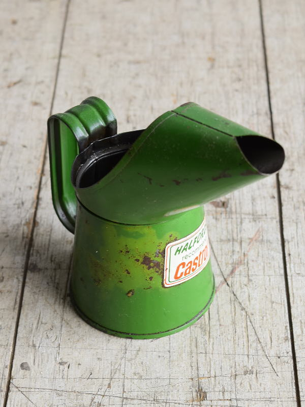 イギリス アンティーク オイル缶 小 8429