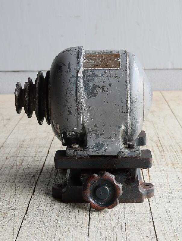 日立 動力モーター 三相200V 1957年製 8458