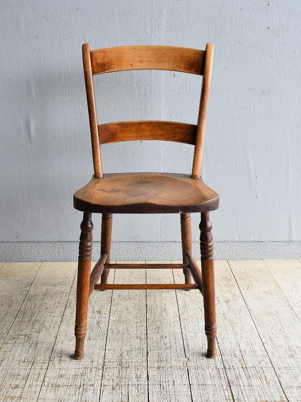 イギリス アンティーク家具 キッチンチェア 椅子 8472