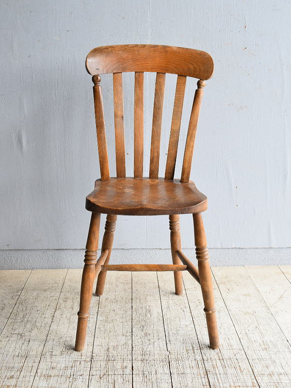 イギリス アンティーク家具 キッチンチェア 椅子 8473