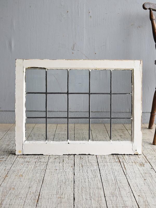 イギリス アンティーク 窓 無色透明 8518