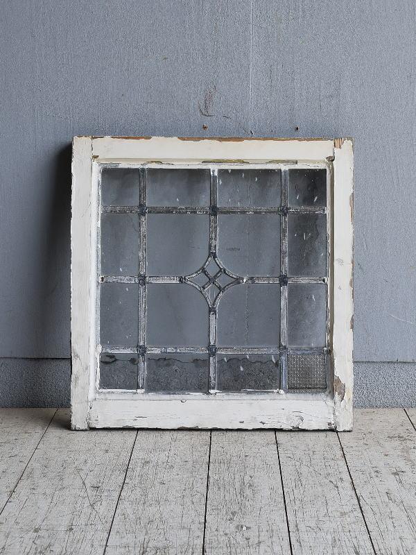 イギリス アンティーク 窓 無色透明 8529