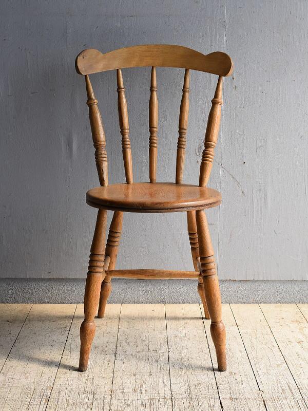 イギリス アンティーク家具 キッチンチェア 椅子 8546
