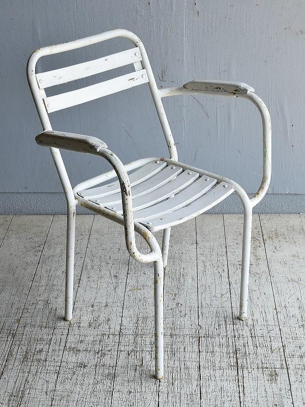 フレンチ アンティーク スタッキング ガーデンチェア 椅子 8585