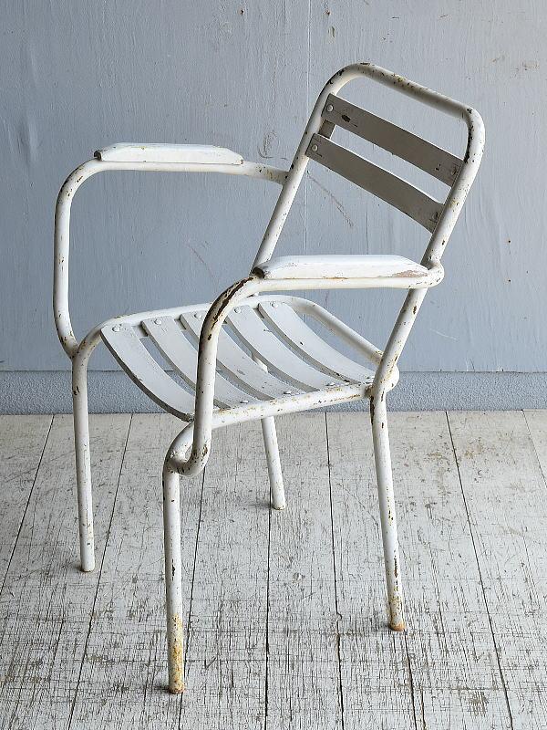 フレンチ アンティーク スタッキング ガーデンチェア 椅子 8586