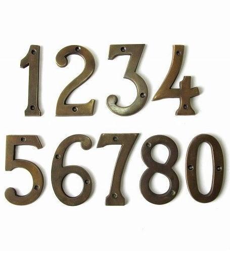 イギリス アンティーク 真鍮製 ハウスナンバー 8620