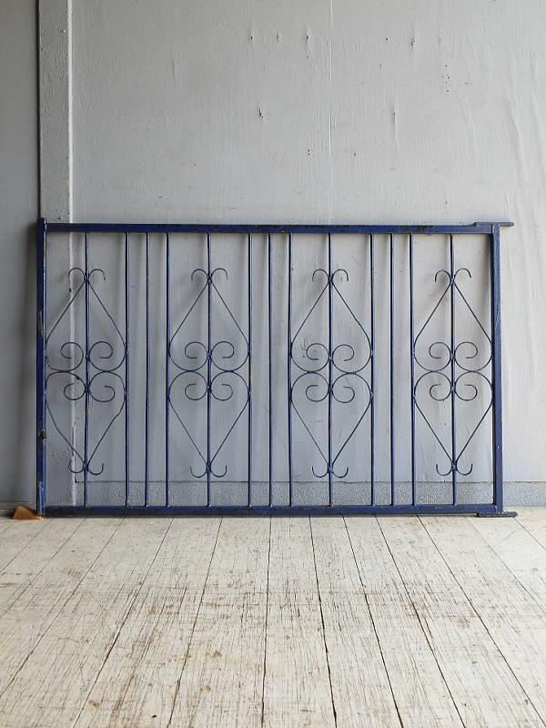 イギリスアンティーク アイアンフェンス ゲート柵 ガーデニング 8639
