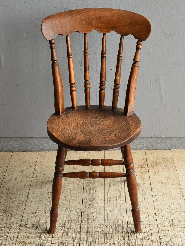 イギリス アンティーク家具 キッチンチェア 椅子 8700