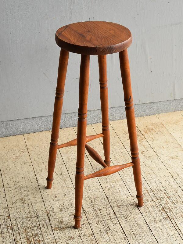 イギリス アンティーク家具 ハイスツール パイン  椅子 8704